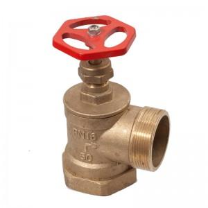 Вентиль пожарный латунный угловой Ду50 ВН