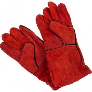 Перчатки замшевые с крагой и подкладом