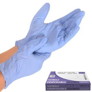Перчатки нитриловые неопудренные XL 100шт / уп NPF35-XL (10уп)
