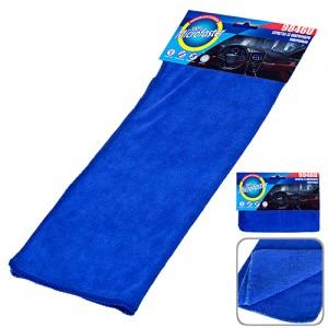Салфетка микрофибра 9846U универс. 40х30см/синяя