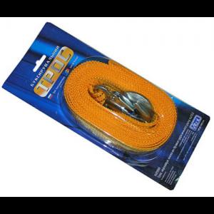 Трос буксир ST205/TP-205-3-1 3т лента 46мм х 4,5м желтый/крюк/блистер