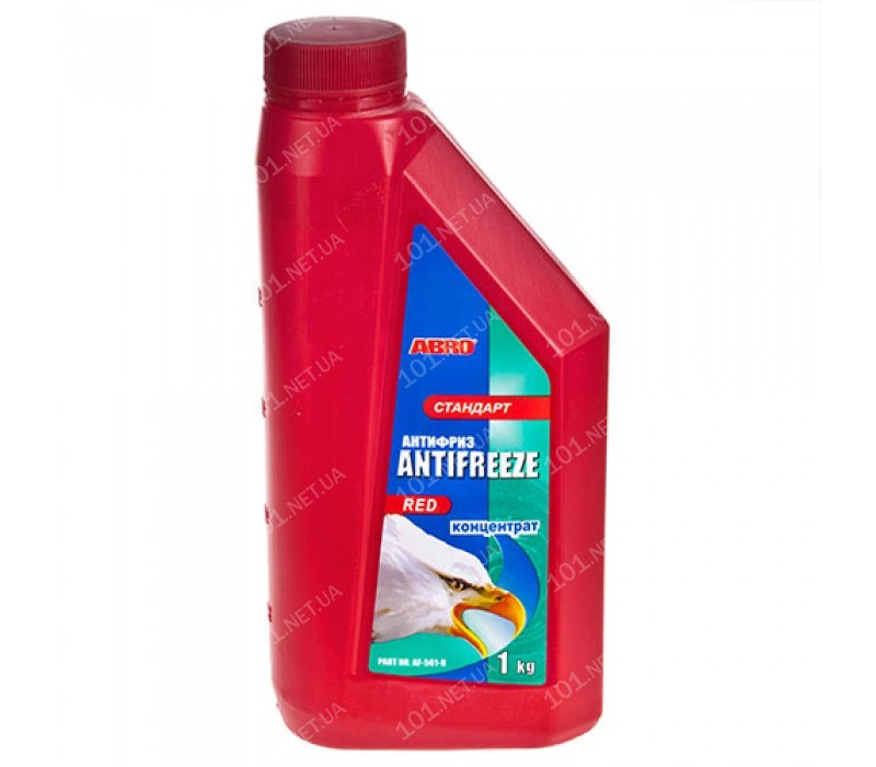 Антифриз ABRO AF-561-H стандарт концентрат красный 1кг