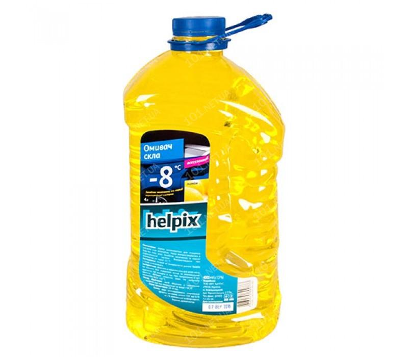 Омыватель стекол зимний HELPIX 4Л -8 (лимон)