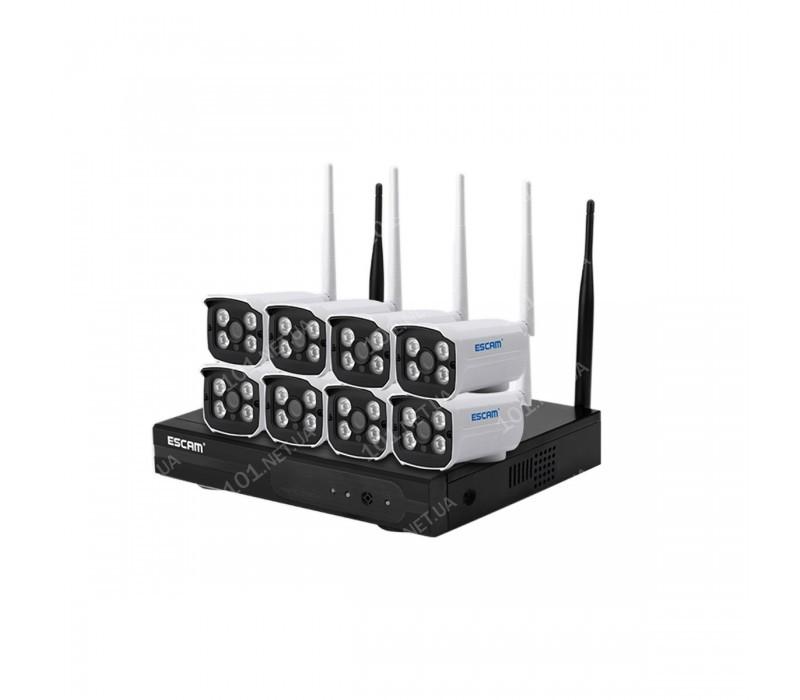 Комплект видеонаблюдения ESCAM WNK803 8CH 720P Wireless NVR KITS EU