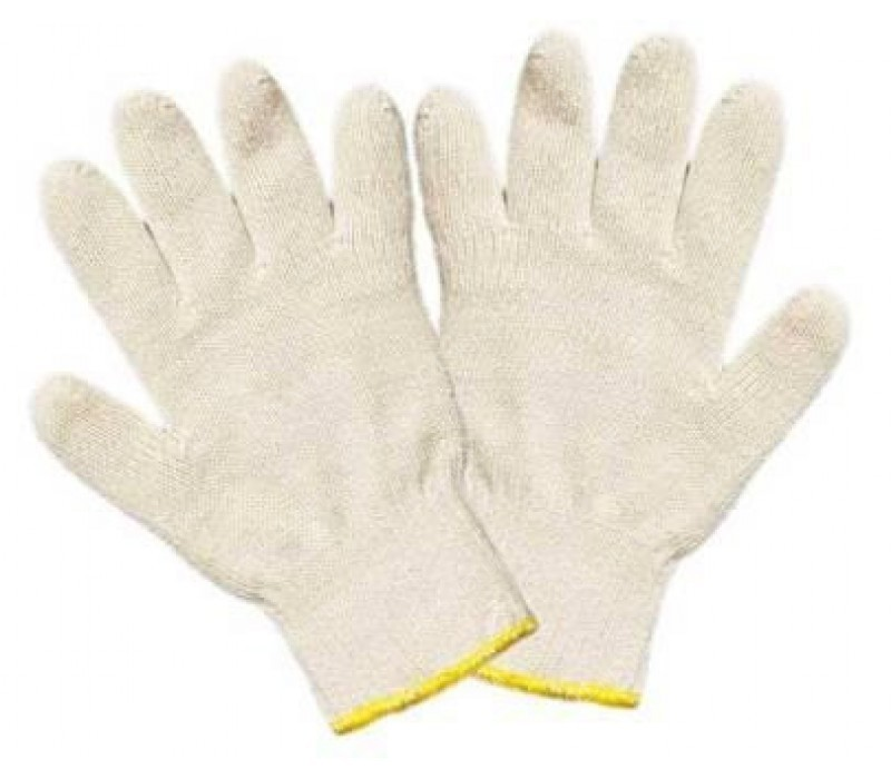Перчатки трикотажные без ПВХ точки (00200)