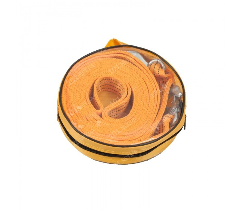 Трос буксир ST206B/TP-209-5-1 5т лента 50мм х 6м оранж/2 крюка/сумка