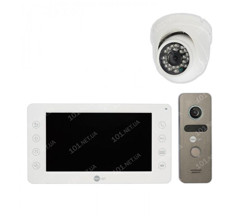 Комплект видеодомофона NeoLight Kappa c купольной камерой