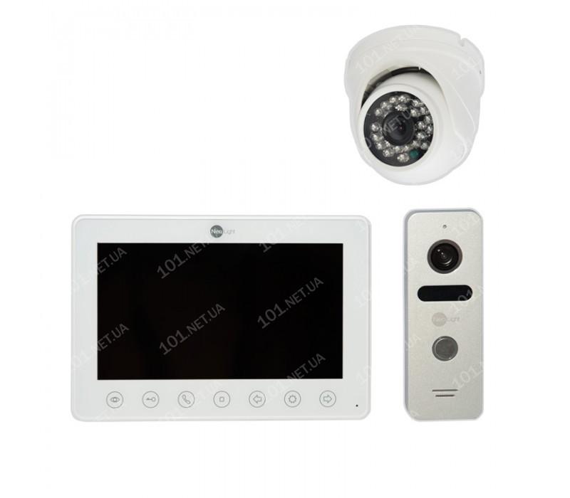 Комплект видеодомофона NeoLight Omega c купольной камерой