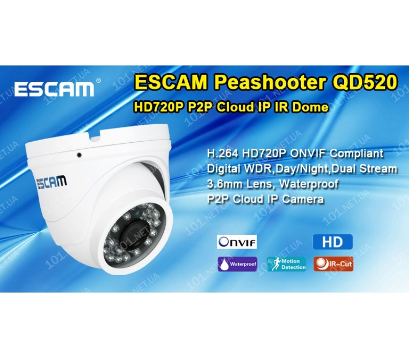 IP камера ESCAM QD520 Peashooter