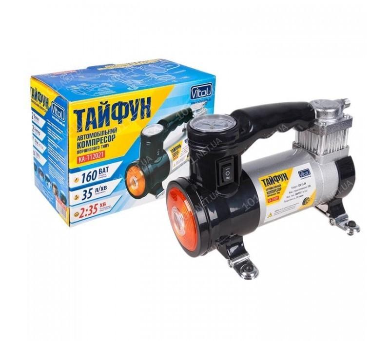 Компрессор Тайфун КА-T12021 100psi/12Amp/35л/фонарь/прикур.+переходник