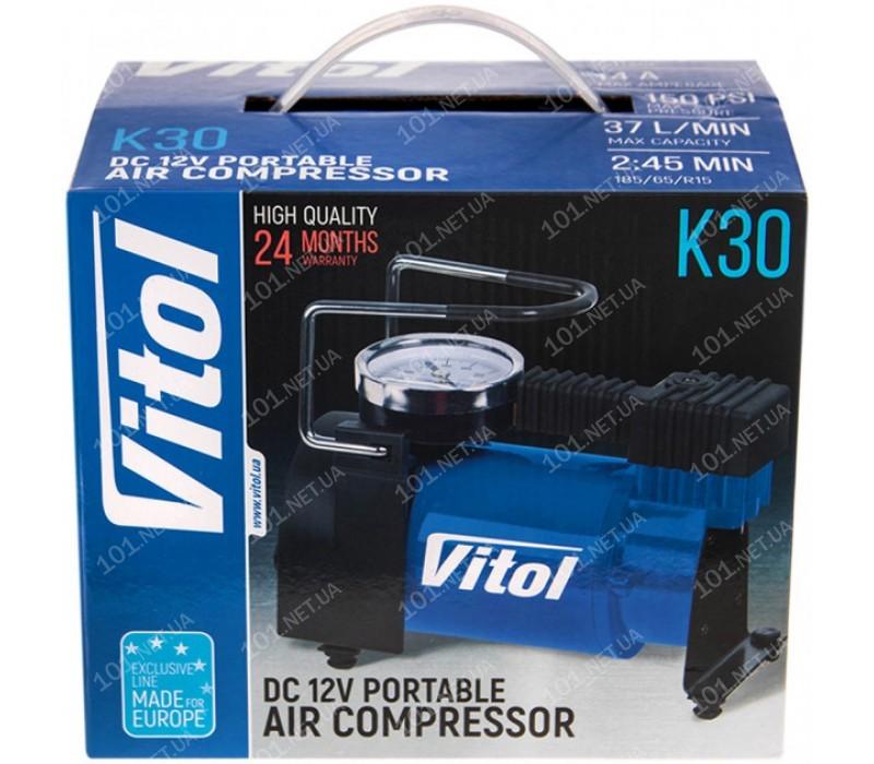 """Компрессор """"ViTOL"""" K-30 150psi/14Amp/37л/прикуриватель"""