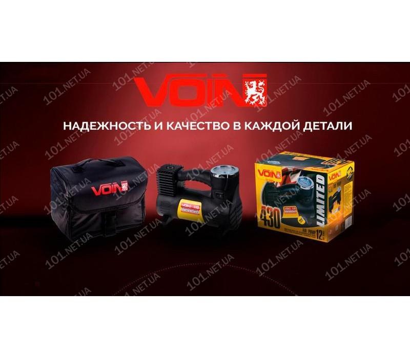 """Компрессор """"VOIN"""" VL-430 150psi/14A/40л/прикур./переходник на клеммы"""