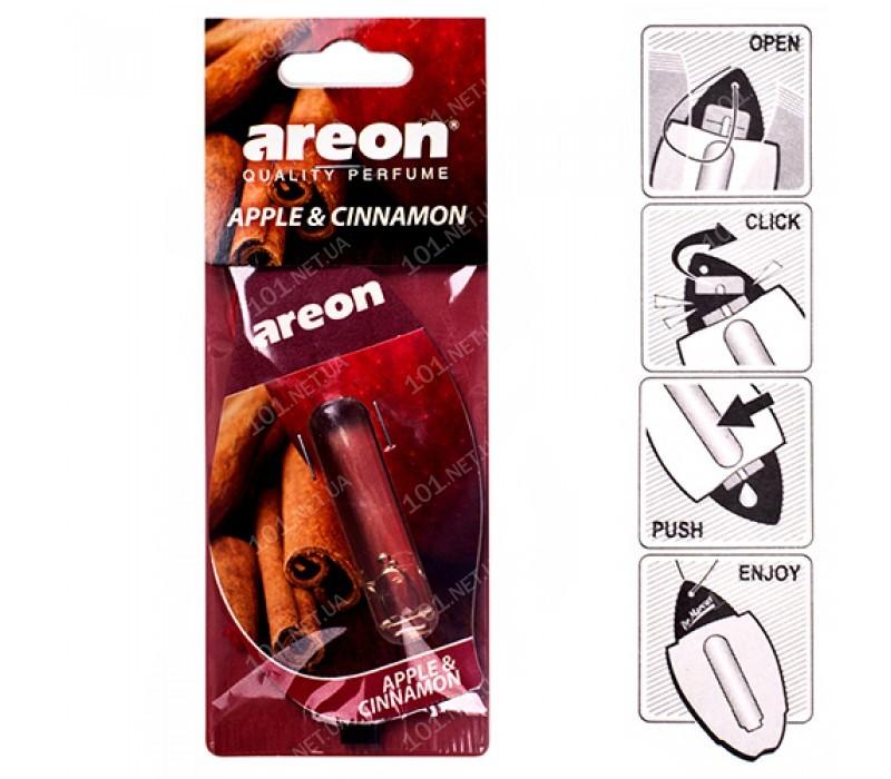 Освежитель воздуха жидкий листик AREON LIQUID Apple & Cinnamon 5ml