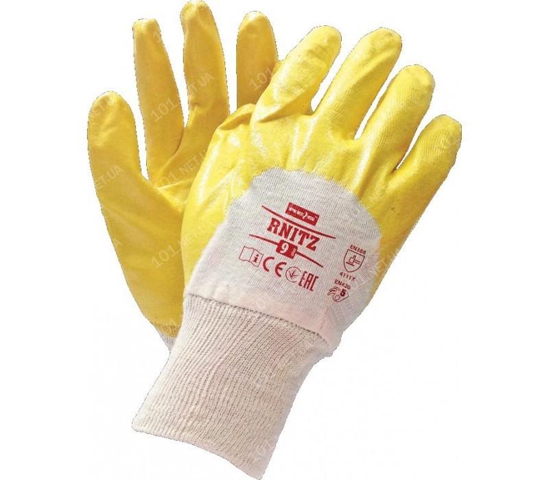 Перчатки хлопчатобумажные облитые нитрилом RNITZ (315)