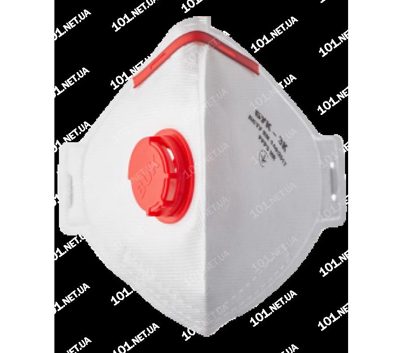 Респиратор (полумаска) Бук-3К, с клапаном, FFP3