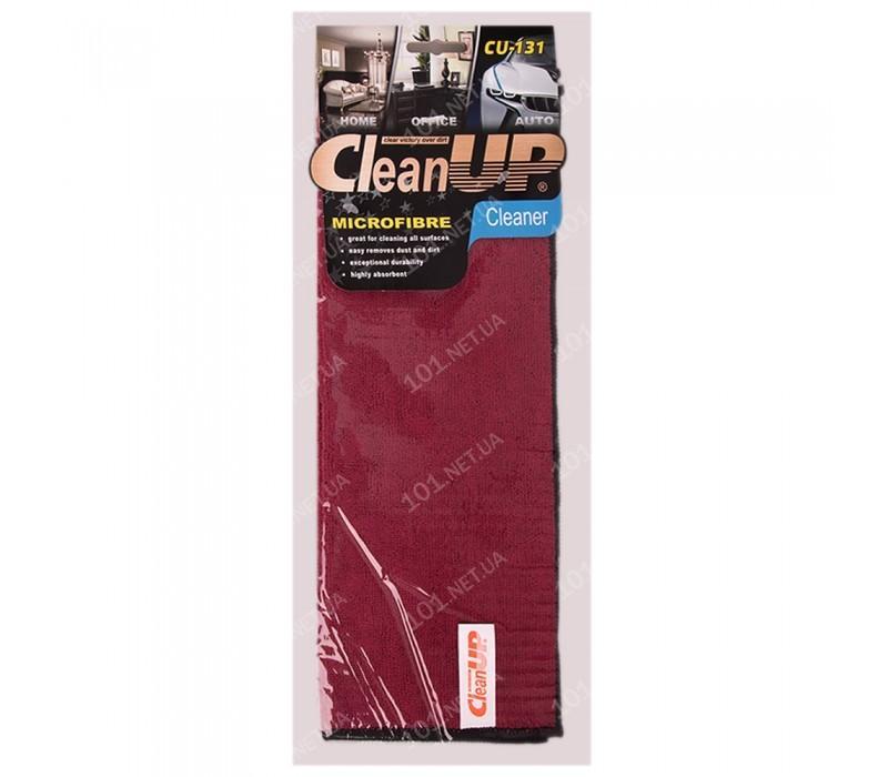 Салфетка микрофибра CleanUP CU-131 универс. 30х40см Dark Red