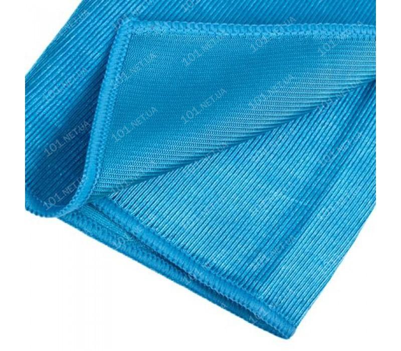 Салфетка микрофибра VR-01L-G д/стекла 40х30см/голубая (VR-01L-G)