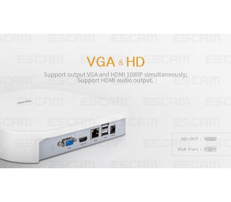 Сетевой видеорегистратор NVR ESCAM PVR208