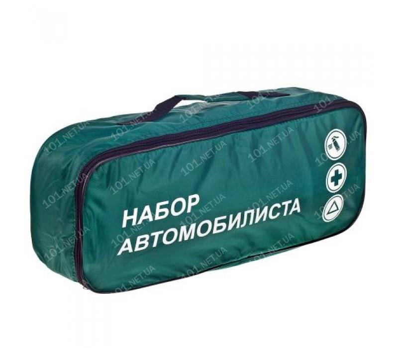 Сумка тех. помощи Набор автомобилиста (зеленая) 46х20х14см