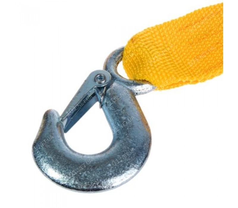 Трос буксир ТРШ-245-4-1  4т лента 46мм х 4,5м  желтый/крюк/кулек