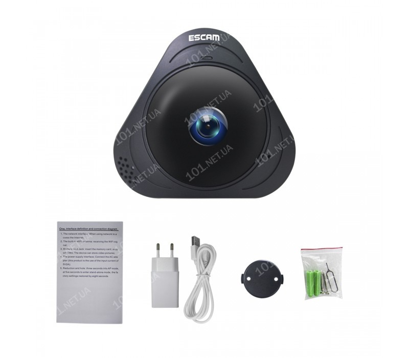 WiFi IP камера ESCAM Q8 B Fish eye