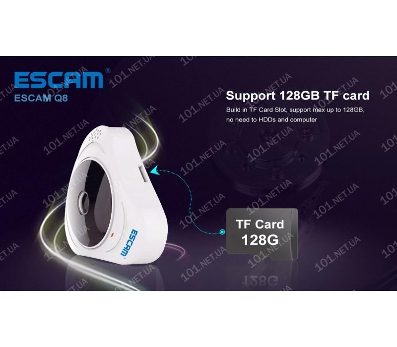 WiFi IP камера ESCAM Q8 W Fish eye