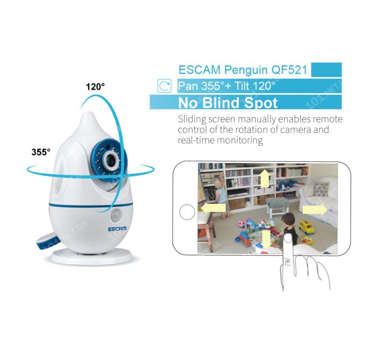 WiFi IP камера ESCAM QF521 Penguin