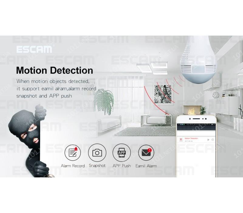 WiFi IP камера ESCAM QP136 960P HD LED Bulb Light